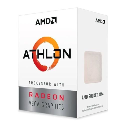 Processador AMD Athlon 3000G 3.5Ghz AM4 Radeon Vega 3 35W PN # YD3000C6FHBOX
