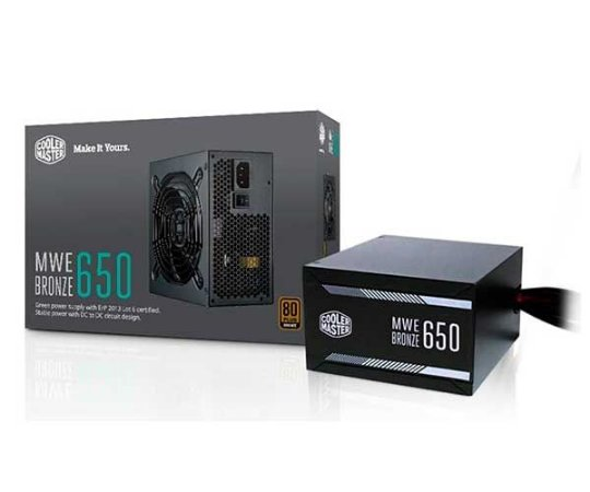 FONTE ATX MWE 650W 80 PLUS BRONZE - MPX-6501-ACAAB-WO - COOLER MASTER