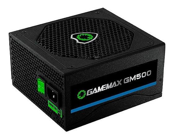 Fonte Atx Gamemax 500W 80 Plus Bronze PFC Ativo - OEM - Gm500