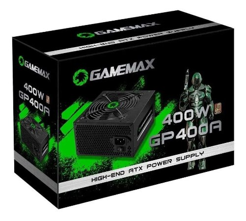 Fonte de Alimentacao Gamemax GP400A 400W Box 80 Plus Bronze C/PFC C/Cabo