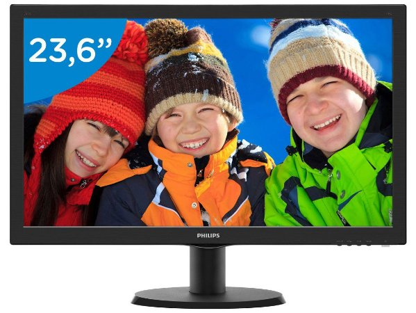 "Monitor Philips 23"" LED 243V5QHABA (HDMI/VGA/DVI/VESA/Multimidia/SmartControl Lite/1920x1080 Full HD)"