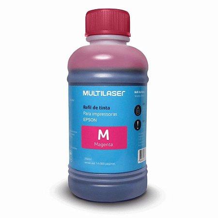 Refil De Tinta Para Impressoras Epson 250Ml Magenta Multilaser - RF015 - MULTILAZER