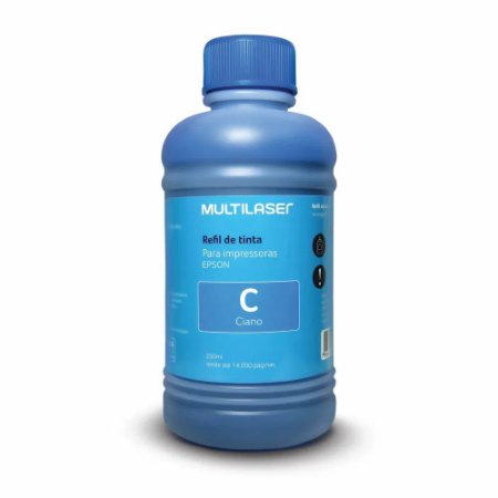 Refil De Tinta Para Impressoras Epson 250Ml Ciano - RF014 - MULTILASER