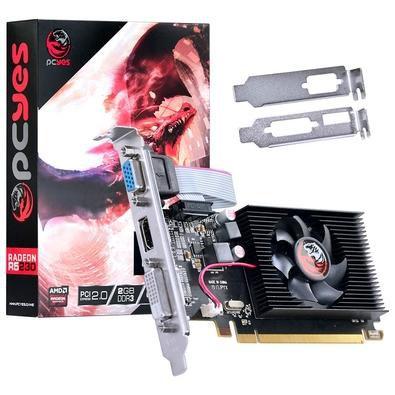 PLACA DE VIDEO AMD RADEON R5 230 2GB DDR3 64 BITS COM KIT LOW PROFILE INCLUSO - PA230R56402D3LP - PCYES