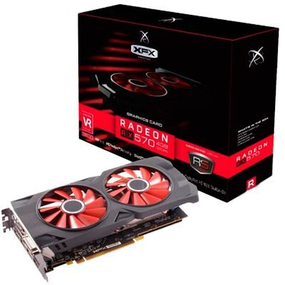 PLACA DE VIDEO AMD RX 570 8GB XXX ED DDR5 1286MHZ XFX RX-570P8DFD6