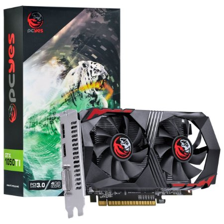 PLACA DE VIDEO NVIDIA GEFORCE GTX 1050 TI 4GB GDDR5 128 BITS DUAL-FAN - PA1050TI12804G5DF - PCYES