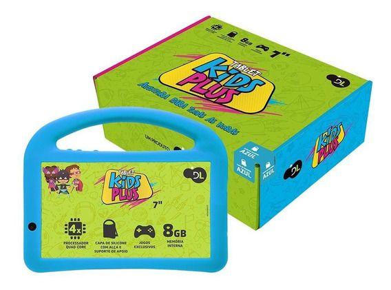 TABLET DL KIDS PLUS 7P 8GB WI-FI 1 CAMERA FRONTAL TX398PCA AZUL BIVOLT