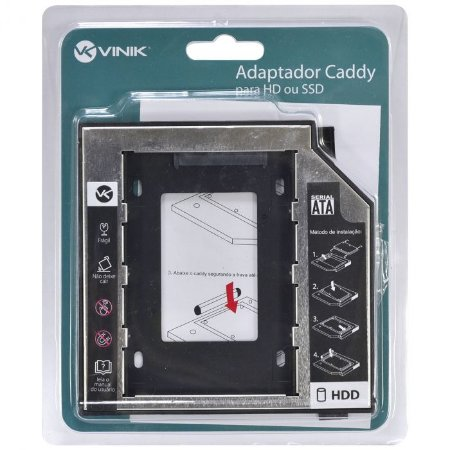ADAPTADOR CADDY PARA HD OU SSD GAVETA DVD NOTEBOOK AC-95 - VINIK