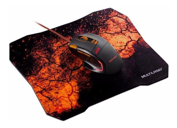 COMBO MOUSE E MOUSE PAD GAMER MULTILASER