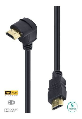 CABO HDMI 2.0 4K 1 CONEC.90 - 5M H2090-5