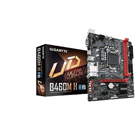 PLACA MAE INTEL GIGABYTE B460M H DDR4 LGA 1200 10 GERACAO