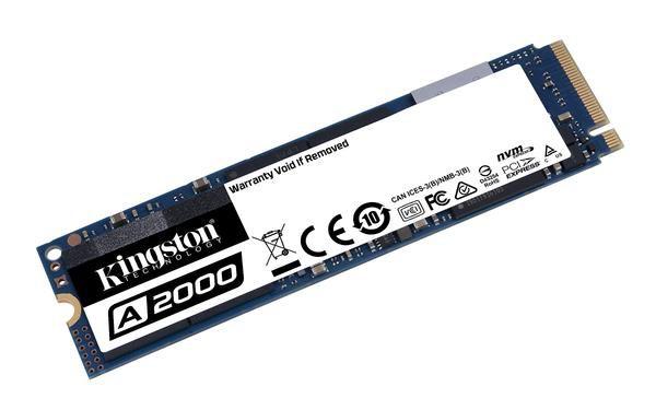 SSD KINGSTON 500GB A2000 M.2 2280 NVME PCIE 3.0 - SA2000M8/500G