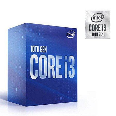 PROCESSADOR CORE I3 LGA 1200 BX8070110100F QUAD CORE I3-10100F 3.60GHZ 6MB CACHE SEM VIDEO 10GER