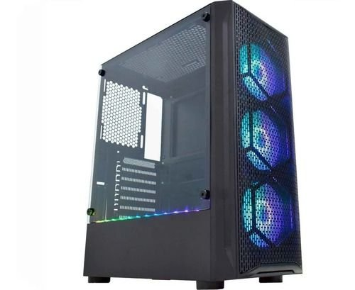 Gabinete Gamer K-mex CG-02JT Boreas II 3 cooler Frontal ARGB