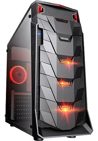 GABINETE GAMER TAURUS USB 3.0 PRETO LED VERMELHO - MYMAX (MCA-TAURUS/BK)