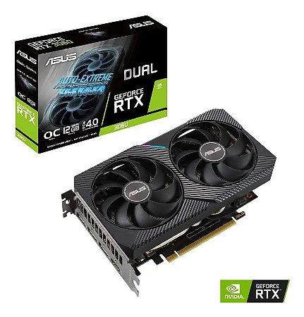 PLACA DE MICROPROCESSAMENTO ASUS GEFORCE 90YV0FQ1-M0NA00 DUAL-RTX3070-8G (GPU DUAL RTX3070 8GB GDDR6) - 0078989-01
