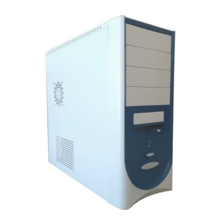 Gabinete Coletek Branco e azul com fonte 450W com USB 2.0