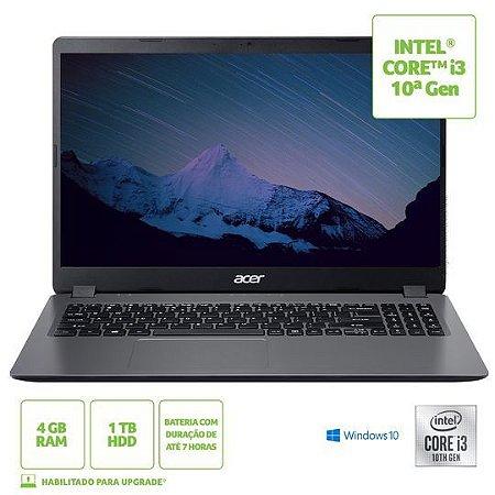 Notebook Acer Intel Core i3-1005G1 4gb HD 1tb Windows 10 Cinza - A315-56-36Z1
