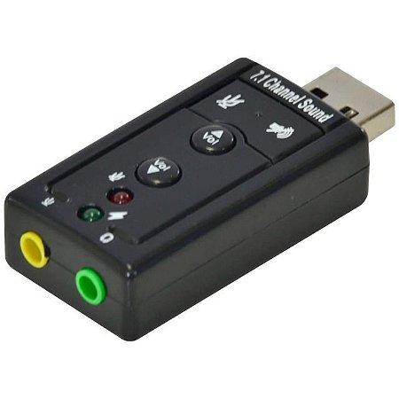 ADAP PLACA DE SOM USB 7.1 VIRTUAL AUSB71