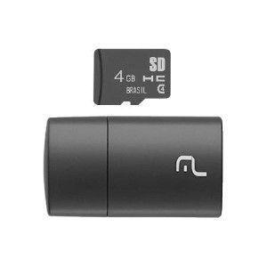 CARTAO MICRO SD 4GB C/LEITOR USB MC160