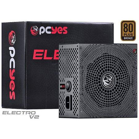 FONTE ATX 750W REAL ELECTRO V2 SERIES 80 PLUS BRONZE - ELECV2PTO750W - PCYES