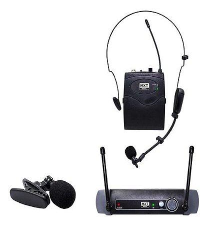 MICROFONE S/ FIO UHF10BP HEADSET/LAPELA