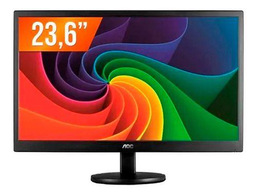 Monitor AOC 23,6 M2470SWH2 S LED Wide Full HD VGA HDMI Preto