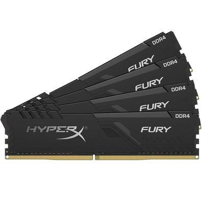 ***KIT 4x8gb DDR4 2666mhz HyperX Fury Black
