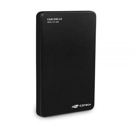 "CASE PARA HD 2,5"" USB 2.0 CH-200 PRETO C3TECH"