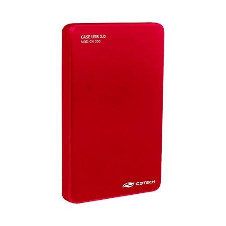 """CASE PARA HD 2,5"""" USB 2.0 CH-200 RD C3TECH"""
