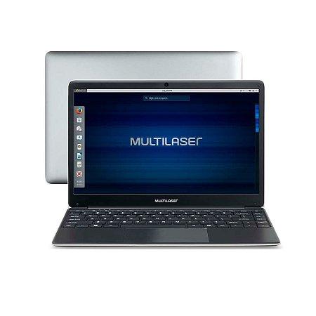 NOTEBOOK MULTILASER LEGACY BOOK INTEL CELERON 4GB 500GB 14.1 Pol. HD LINUX CINZA