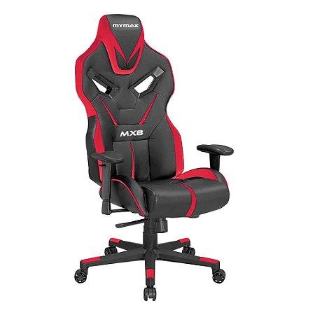 Cadeira Gamer MX8 Giratoria Preto/Vermelho(MGCH-8170/BK-RD)