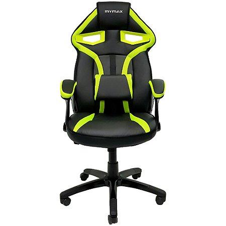 Cadeira Gamer MX1 Giratoria Preto/Verde(MGCH-8131/GR)