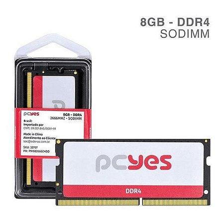 MEMORIA PCYES 8GB DDR4 - PM082666D4SO