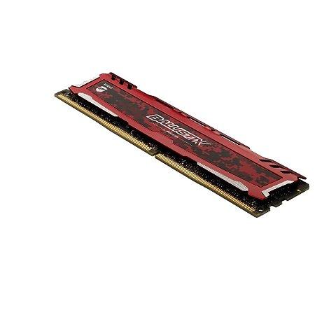 Memória Ram Crucial Ballistix Sport LT 8gb Ddr4 3200Mhz Cl16 Red - BLS8G4D32AESEK