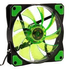 LED COOLER FAN GAMER VERDE 120*120*25 MM C/15 LEDS   9 HELICES