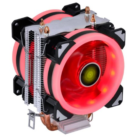COOLER PARA PROCESSADOR VX GAMING BLITZAR COMPATIVEL COM INTEL/AMD COM PWM TDP 100W LED VERMELHO - CP400 - VINIK