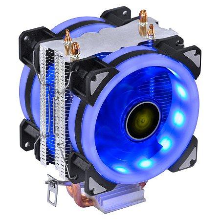 COOLER PARA PROCESSADOR VX GAMING BLITZAR COMPATIVEL COM INTEL/AMD COM PWM TDP 100W LED AZUL - CP410 - VINIK