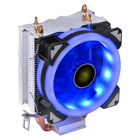 COOLER PARA PROCESSADOR VX GAMING BLITZAR COMPATIVEL COM INTEL/AMD COM PWM TDP 95W LED AZUL - CP310 - VINIK