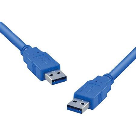 CABO USB 3.0 A MACHO X USB A MACHO 2 METROS AZUL U3AMAM-2 - VINIK