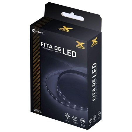 FITA DE LED BRANCO COM CONEXÃO MOLEX 60 PONTOS DE LED 1 METRO - LBM1 - VINIK
