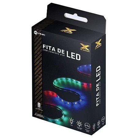 FITA DE LED RGB COM CONTROLADOR CONEXÃO USB 60 PONTOS DE LED 1 METRO - LRU1 - VINIK