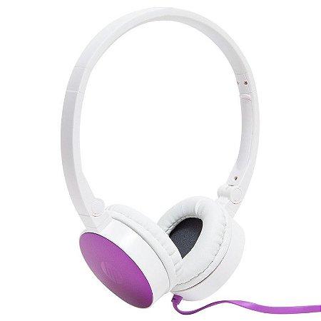 Fone de Ouvido com Microfone Dobrável H2800 Roxo F6J06AAABL HP