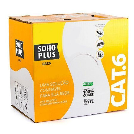 CABO LAN U/UTP CAT6 24AWG X 4 PARES ROHS METRO AZUL - FURUKAWA SOHO PLUS
