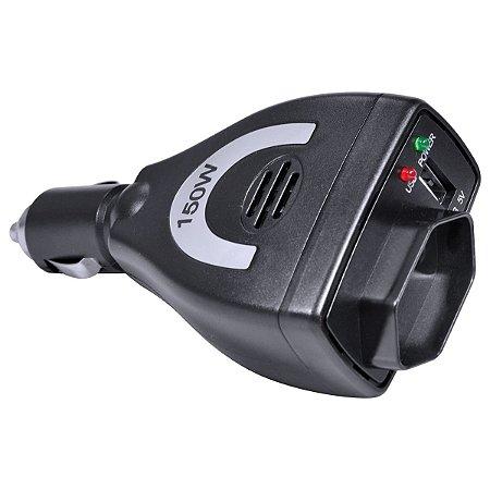 INVERSOR DE CORRENTE ELETRICA DE ONDA MODIFICADA AUTOMOTIVO 150W 12V PARA 110V COM PLUG BR USB 1A - VINIK
