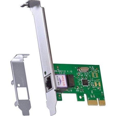 PLACA DE REDE 10/100/1000 PCI-E PRV1000E COM SUPORTE LOW PROFILE - VINIK