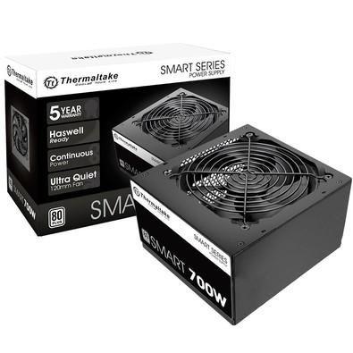 Fonte Atx Thermaltake 700 Smart 80 Plus White PFC Ativo - PS-SPD-0700NPCWBZ-W