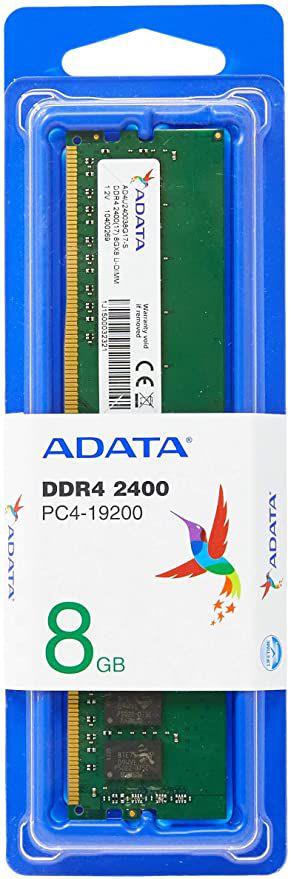 Memória Ram  Adata 8gb Ddr4 2400Mhz - AD4U2400W8G17-S