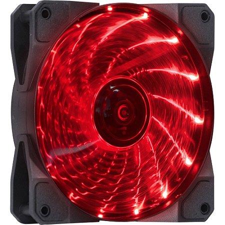 FAN/COOLER VX GAMING V.LUMI 15 PONTOS DE LED 120X120 VERMELHO - VINIK