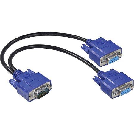 CABO Y 1 VGA MACHO X 2 VGA FÊMEA 15 PINOS AVY-1M/2F - VINIK (CST 260)